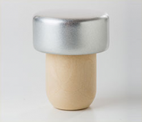 Professional Quality Aluminium Synthetic Corks Silver (25s)